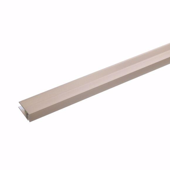Bild von Wandabschlussprofil 170cm bronze hell 21,5 x 11-15mm gebohrt Abschlussprofil Alu