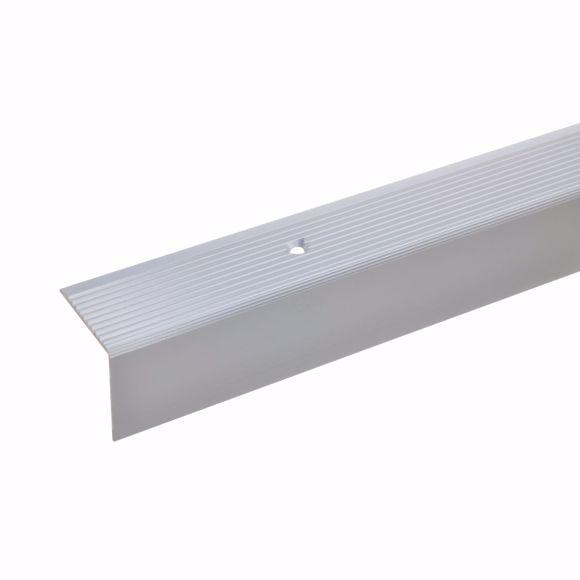 Bild von 30x30mm Treppenwinkel 270cm silber gebohrt Alu Kantenprofil Kantenschutz