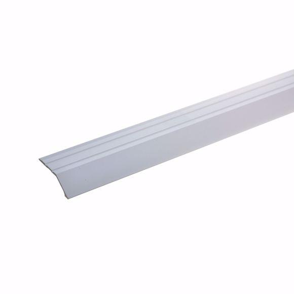 Bild von Abschlußprofil 135cm silber 34 x 8mm selbstklebend Wandabschlussleiste Aluminium