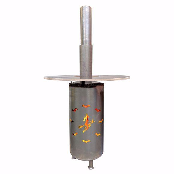 Bild von Feuertonne Stehtisch mit Tischplatte und 115cm Durchmesser