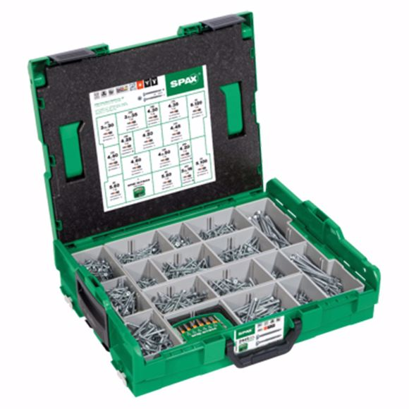 Picture of SPAX mounting case, L-BOXX, large, WIROX A3J, T-STAR plus, countersunk head, 16 dimensions, 2446 pie